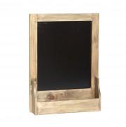tafel mit ablage holz natur 0001027. Black Bedroom Furniture Sets. Home Design Ideas