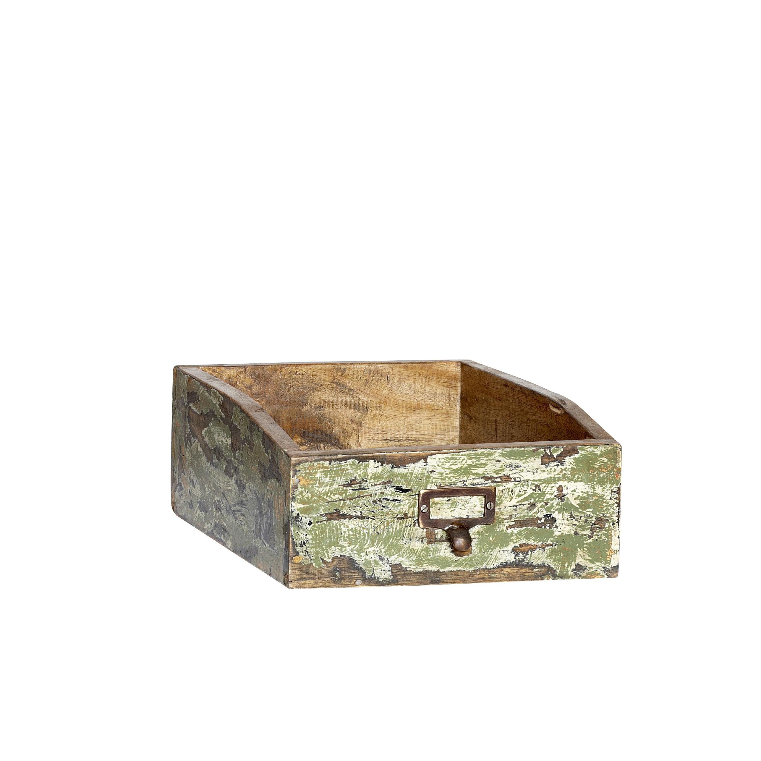 ablagebox f r format a4 aus recyceltem farbigen holz 0001187. Black Bedroom Furniture Sets. Home Design Ideas