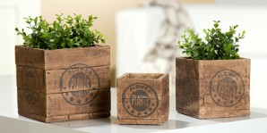Pflanztopf quadratisch 15cm, Holzdesign, Zement