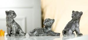 Geparden Babies, antiksilber, sortiert, 3 Designs, je