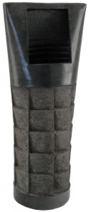 "Vase ""Vesuve"" rechteckig, 30 cm hoch"