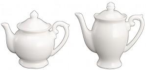 Deko -Teekanne aus Porzellan hängend weiss, sortiert, je