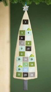 "Adventskalender ""Baum"" ca. 39x133cm"