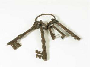 Schlüsselbund Antik Look dunkelbraun