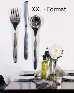 "XXL Wandobjekt ""Löffel"", Alu poliert, 100cm lang"