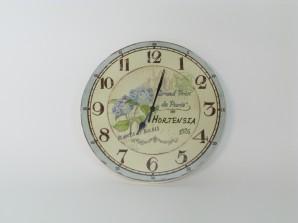 """Wanduhr """"Hortensie"""" Ø 25 cm"""