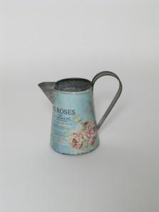 Kanne Rosendesign türkis, 15,5cm hoch