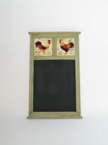 Tafel Hahnmotiv, 49,5 cm hoch