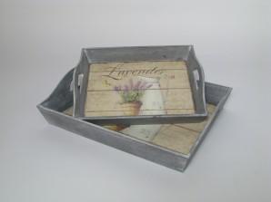 Tablett lavendel 2er-Set