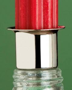 Stecker für Stabkerzen, silberfarben, ca. 3,2cm breit