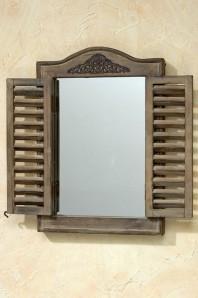 """Spiegel """"Fensterladen"""", 31x45cm, Holz/Glas"""