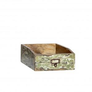 Ablagebox für Format A4 aus recyceltem, farbigen Holz