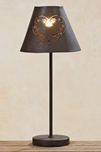 """Lampe """"Herz"""" Eisen lackiert, 44cm hoch,"""