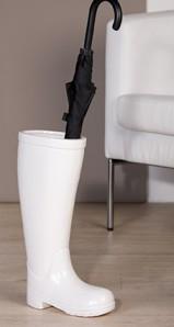 """Schirmständer """"Stiefel"""", weiss, Keramik, 45 cm hoch"""