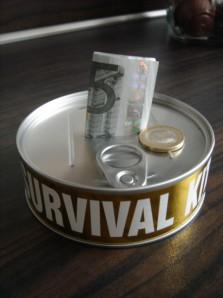 """""""Überlebensausrüstung"""" für finanzielle Engpässe (ohne Dekoration)"""