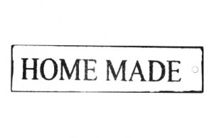 "Metallschild ""Home made"" rechteckig, 2er-Set"