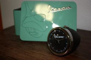 Vespa Uhr im Scheinwerfergehäuse, schwarz