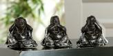 weise Buddhas, 3er-Set, 10cm hoch