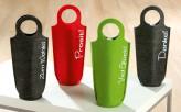 Flaschentasche aus Filz, sortiert, 4 unterschiedliche Motive, je