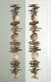 Girlande aus Holz und Muscheln, 110cm lang