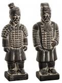 Keramiksoldat stehend, sortiert, schwarz, je