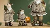 Santa Claus, creme grün, ca. 11cm hoch