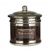 """Glasdose mit Deckel und Etikett """"Chocolat"""""""