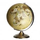 Globus mit Fuß, altsilberfarben