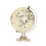 Globus mit Fuß, antiksilberfarben