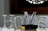 """Schriftzug """"Home"""", Alu poliert, 16 cm hoch, 4-teilig"""