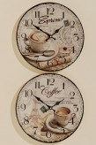 """Wanduhr """"Coffee"""" oder """"Espresso"""", sortiert, Metall/Glas, Ø 34 cm, je"""