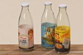 Flasche Morning, farblich sortiert (unterschiedliche Designs), 27cm hoch, 1 Liter, je