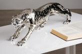 Gepard, antiksilber, 80 cm lang, 20cm hoch