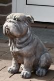 "Figur ""Hund"" grau, 37 cm hoch, Magnesia"