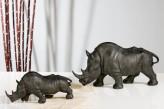 Rhinozeros groß, dunkelgrau, 44 cm lang, 22,5 cm hoch