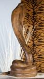 Kobra, antikbraun, 79cm hoch, 38cm breit