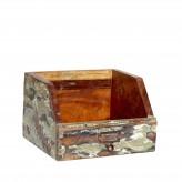 Ablagebox für Format B5, aus recyceltem farbigem Holz