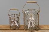 """Windlicht """"Savina"""", 12cm hoch, Metall/Glas"""