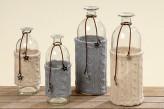 "Vase ""Strick"", sortiert, 20cm hoch, je"
