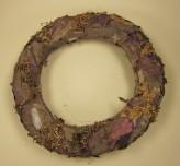 Kranz aus Kork, natur/flieder, Ø 30cm