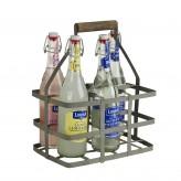 Tragekorb für 6 Flaschen aus Zink