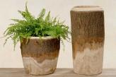 "Pflanztopf ""Riad""  aus Holz, 35cm hoch"