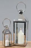 Laterne/Windlicht aus Edelstahl, 11cm hoch