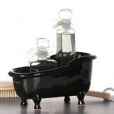 Badewanne schwarz, Keramik,L25xH14cm