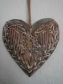 Dekohänger Herz/Edelweiß aus Holz