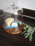 Glashaube mit Holzfuß