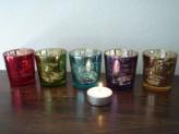 Teelichtgläser DALINDA multicolor, 5er-Set, 6x6,5cm
