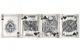 "Metallschild ""Spielkarte"", Antik-Look"