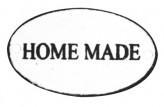 """Metallschild """"Home made"""" oval, 2er-Set"""