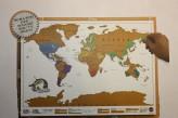 Weltkarte zum Rubbeln, ca.82 x 58 cm
